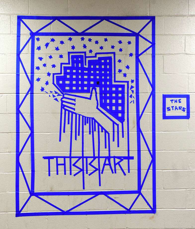 The revised mural by student Desiree Pratt, at Danbury High School. Photo: Carol Kaliff / The News-Times