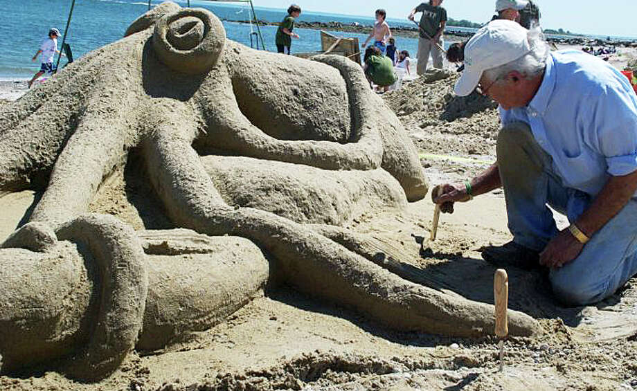 """Castles in the Sky,"" the annual sandcastle contest at Compo Beach to benefit Homes with Hope, is scheduled for noon today. Photo: File Photo / Westport News"
