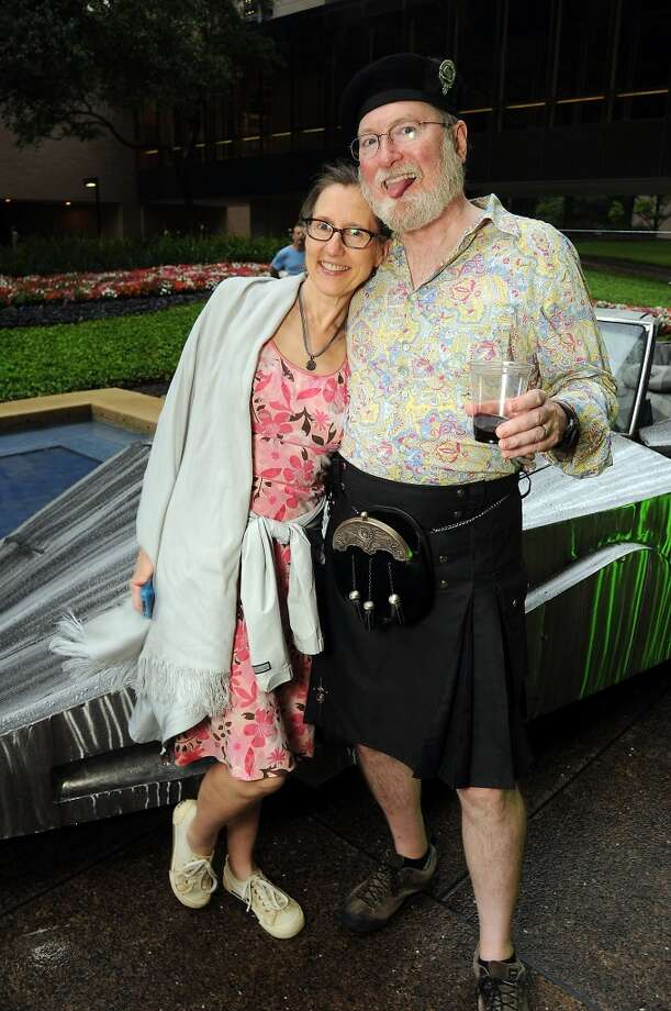 Emily Standish and Bill Galbraith at the Art Car Ball at Allen Center 1 Friday May 09, 2014.(Dave Rossman photo) Photo: For The Houston Chronicle