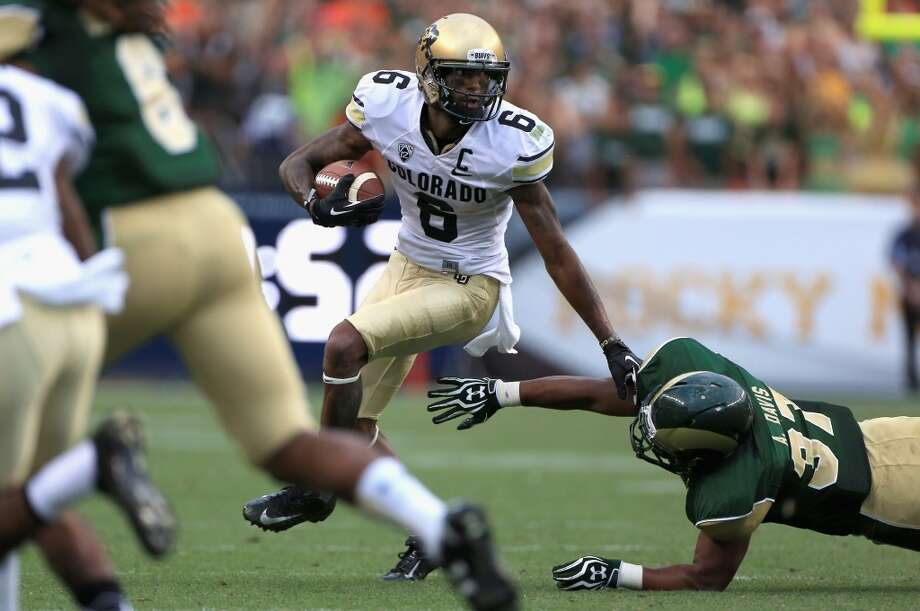 Pick No. 45   Paul Richardson   Wide receiver   ColoradoThe Hawks added explosiveness with their first pick of the 2014 draft, choosing the speedy Richardson with their first selection in the second round. Richardson ranked second in the Pac-12 with 83 receptions for 1,343 yards last season and has clocked 40-yard dash times as fast as 4.28 seconds. Photo: Doug Pensinger, Getty Images