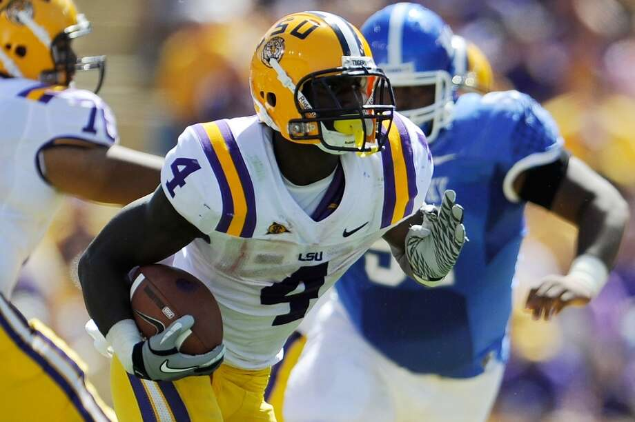 6th round (181st overall): Alfred Blue, RB, LSU, 6-2, 223.College career – LSU was super-deep at running back so he was just one of the cogs, starting only seven games over three seasons. He carried 209 times for 1,253 yards and 11 touchdowns.  He had three 100-plus yard games. Photo: Stacy Revere, Getty Images