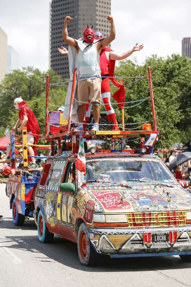 Scenes from the 27th annual Art Car Parade, May 10, 2014 in Houston.