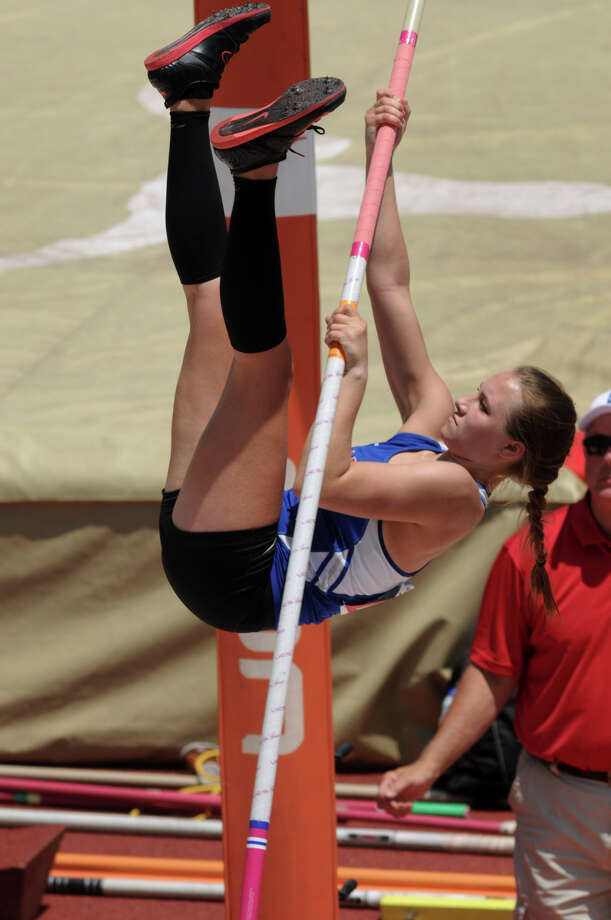 Clear Lake senior Rachel Halloran competes in the Class 5A Girls Pole Vault during the UIL State Track & Field Championships at Mike A. Meyers Stadium in Austin on Saturday. Photo: Jerry Baker, For The Chronicle