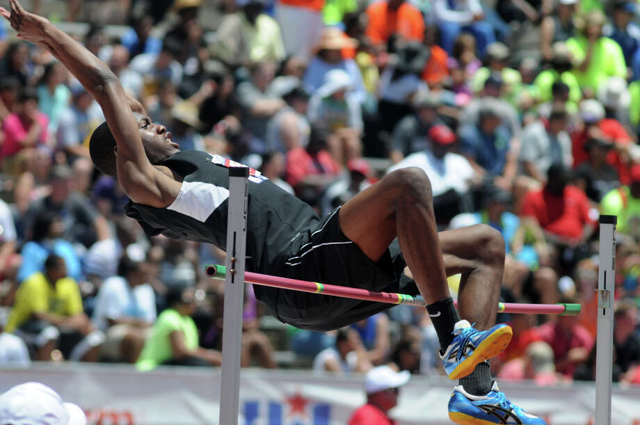 Dekaney senior Joseph Kilgore competes in the Class 5A Boys High Jump during the UIL State Track & Field Championships at Mike A. Meyers Stadium in Austin on Saturday. Photo: Jerry Baker, For The Chronicle