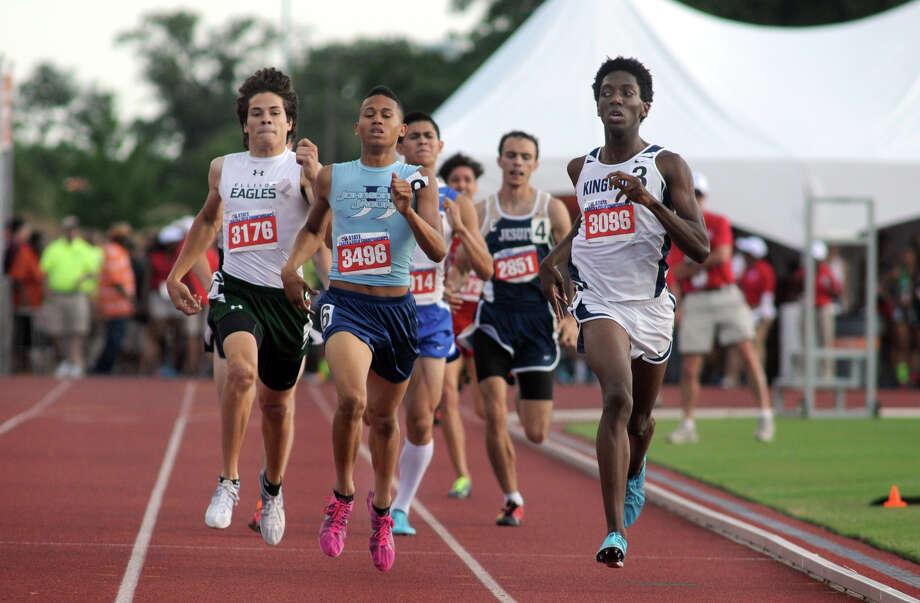 Kingwood junior Myles Marshall, right, leads the pack in the Class 5A Boys 800 Meter Run during the UIL State Track & Field Championships at Mike A. Myers Stadium in Austin on Saturday. Photo: Jerry Baker, For The Chronicle