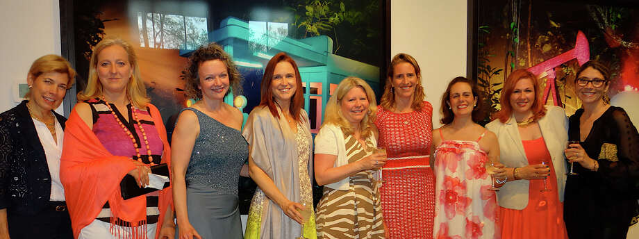 Images 2014 reception committee members at the Fairfield Museum and History Center include, from left, Kim Craig, Sophie DeCrombrugghe, Jen Butler, Kristin Galletta, Wendy Accomando, Finley Shaw, Jennifer Hinkle, Cindy Waldron and Jill Bargas. Photo: Mike Lauterborn / Fairfield Citizen