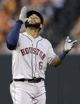 May 10: Orioles 5, Astros 4  After Jonathan Villar scored the tying run for the Astros in the top of the ninth inning, rain just delayed the inevitable - a loss in extra innings at Baltimore.  Record: 11-26. Photo: Patrick Semansky, Associated Press