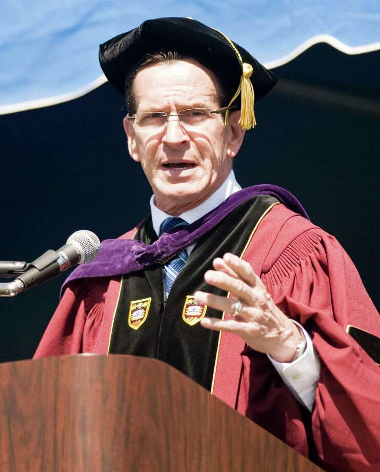 Governor Dannel Malloy addresses the students during the graduation ceremony at Western Connecticut State University. Sunday, May 11, 2014 Photo: Scott Mullin / The News-Times Freelance