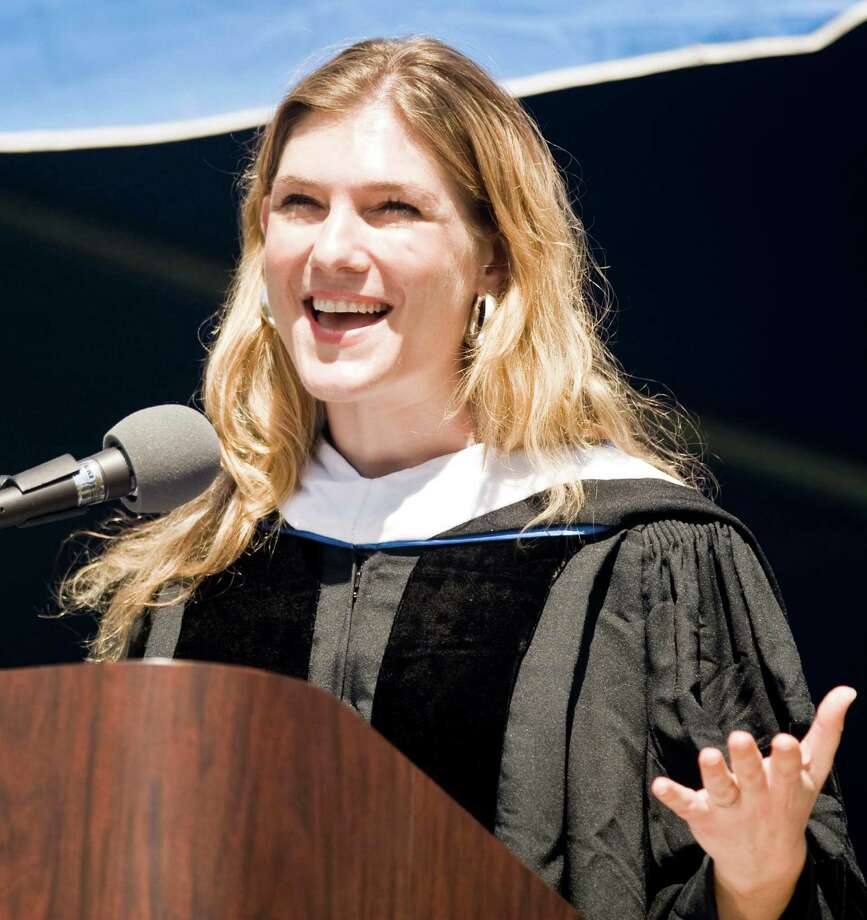 Guest speaker Anya Kramenetz addresses the students during the graduation ceremony at Western Connecticut State University. Sunday, May 11, 2014 Photo: Scott Mullin / The News-Times Freelance