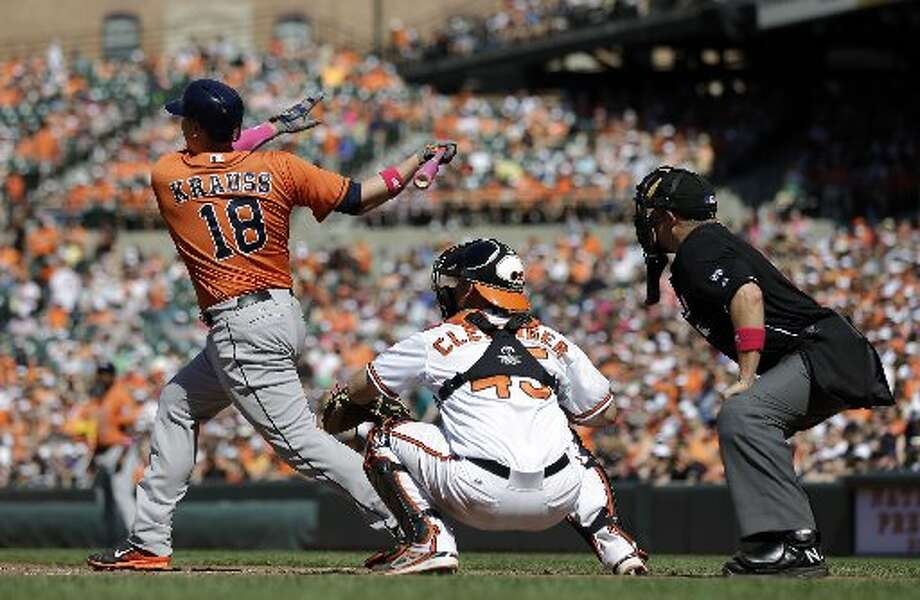 May 11: Astros 5, Orioles 2  Marc Krauss hit his third homer of the season in the victory.  Record: 12-26. Photo: Patrick Semansky, Associated Press