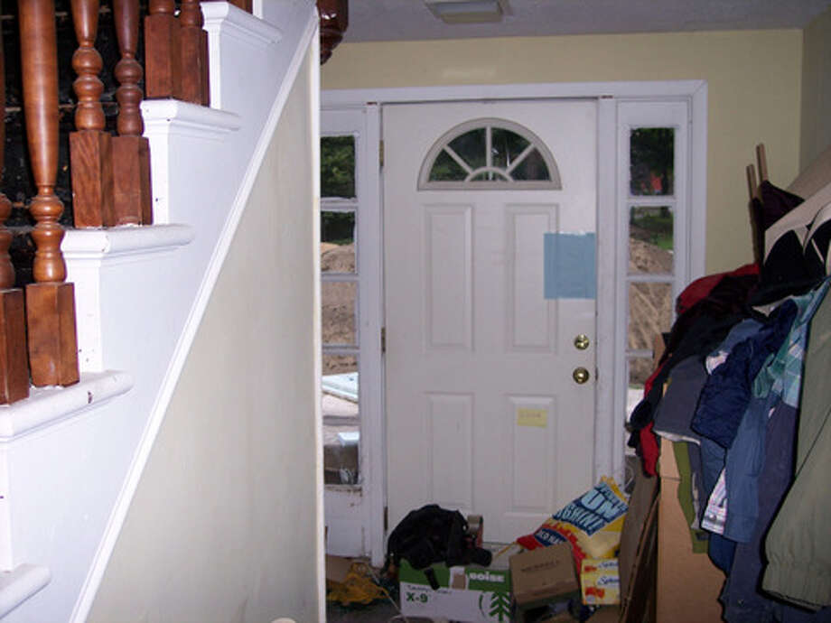 Before: The front door right after moving in.Read more about this project. Photo: Joe Keegan