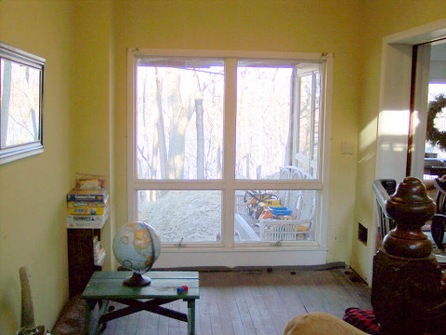 Before: These windows were originally doors leading to the outside.Read more about this project. Photo: Joe Keegan