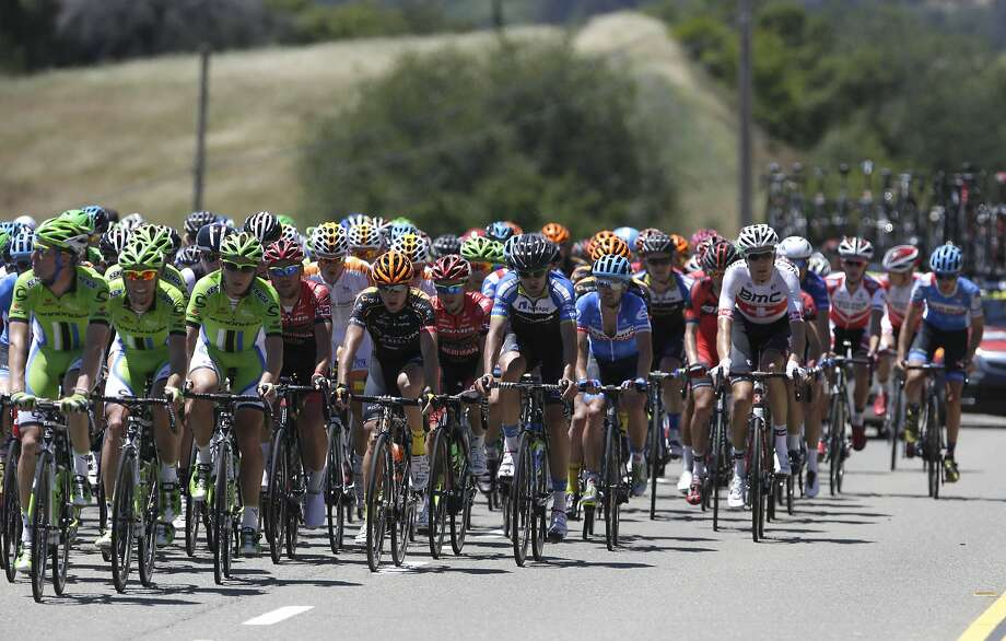 The Amgen Tour of California pedals through Placer County on its first day. The racers face some hot days ahead. Photo: Rich Pedroncelli, Associated Press