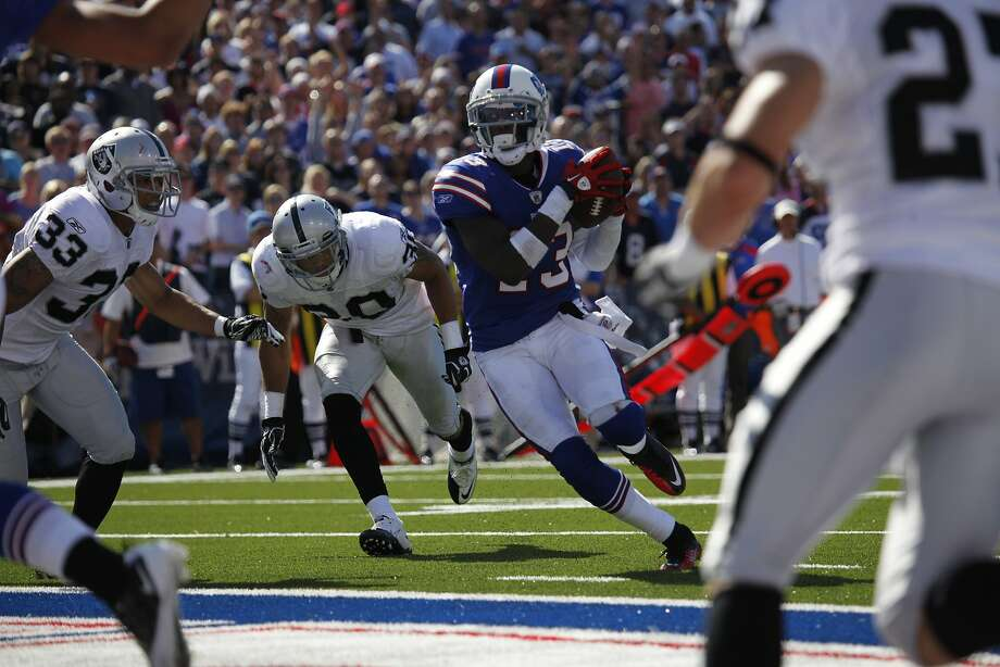 Receiver Stevie Johnson, acquired from the Bills, is not known as exceptionally fast. Photo: Derek Gee, AP