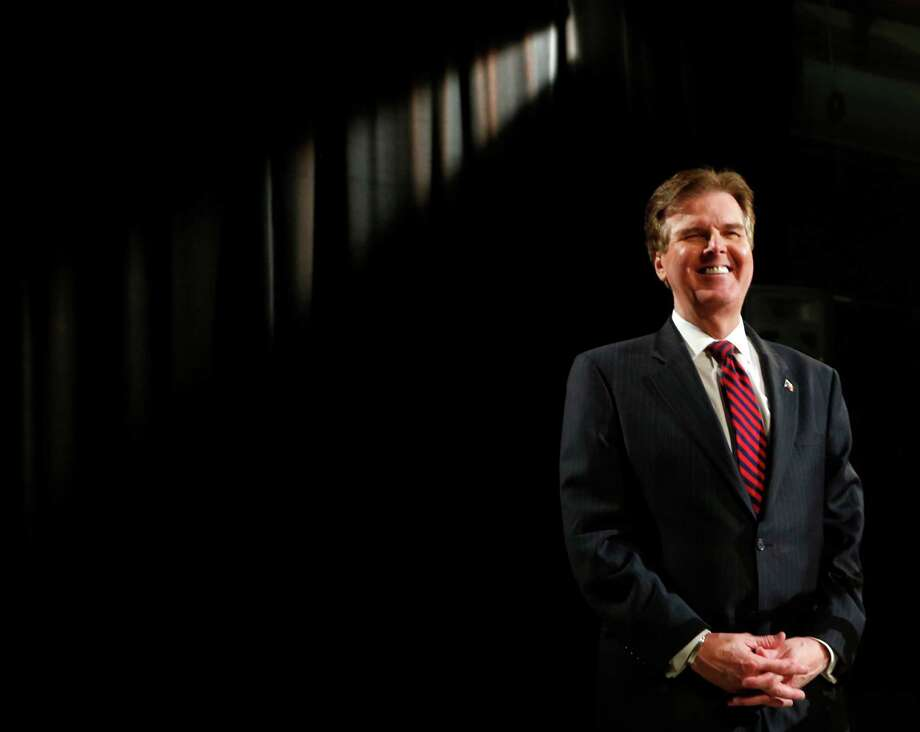May 7, 2014: Dan Patrick, candidate for Texas Lt. Governor, answers a question during a debate against David Dewhurst at the WFAA studios in Dallas.   (AP Photo/The Dallas Morning News, Michael Ainsworth) Photo: Associated Press / The Dallas Morning News