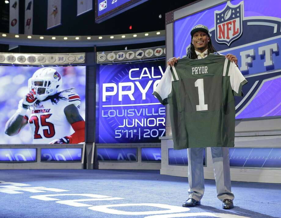 Louisville free safety Calvin Pryor, formerly coached by Texas' Charlie Strong, was the No. 18 overall draft pick by the Jets. Photo: Craig Ruttle / Associated Press / FR61802 AP