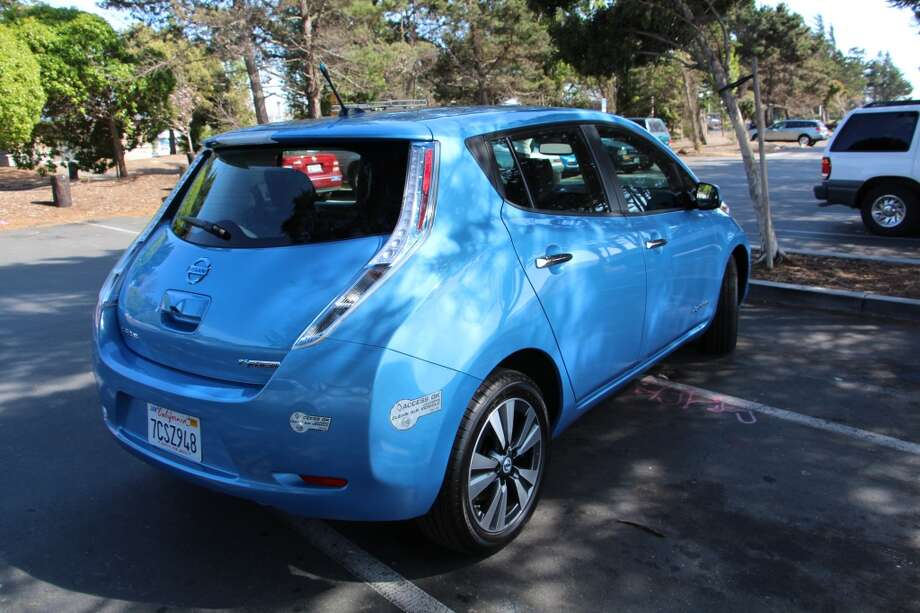 The Leaf gets about 84 miles on a charge.