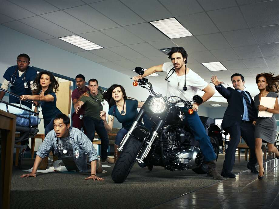 THE NIGHT SHIFT -- Season: Pilot -- Pictured: (l-r) Robert Bailey, Jr. as Paul, Jeananne Goossen as Krista, Ken Leung as Topher, JR Lemon as Kenny, Brendan Fehr as Drew, Jill Flint as Jordan Santos, Eoin Christophe Macken as T.C. Callahan, Freddy Rodriguez as Michael Ragosa, Daniella Alonso as Landry De La Cruz. Photo: NBC, Jeff Riedel/NBC