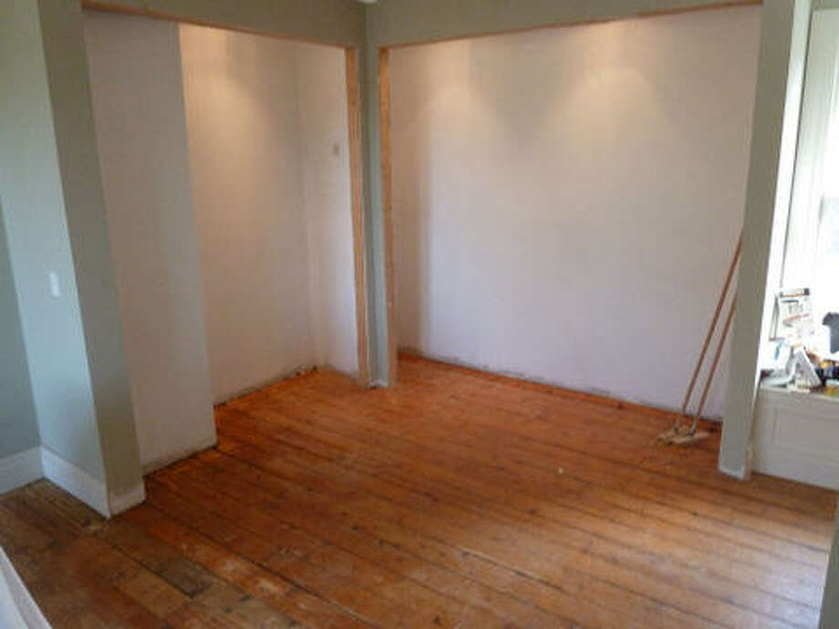 Before: Closet space in the master bedroom. Read more about this project. Photo: Joe Keegan