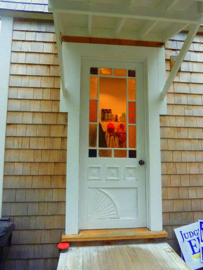 After: It doesn't even look like the same door. Read more about this project. Photo: Joe Keegan