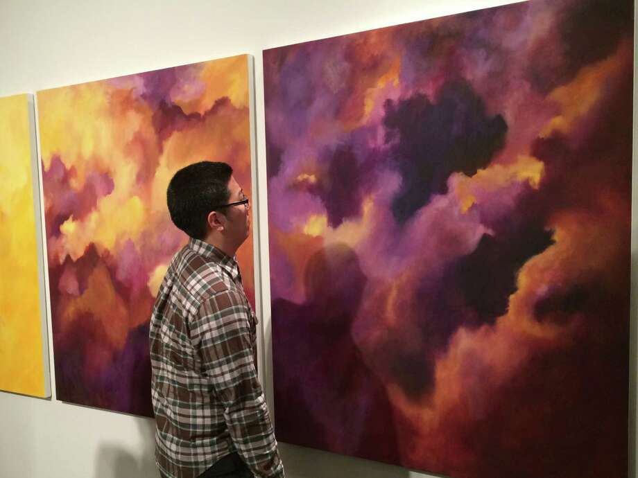 A large turnout attends the reception for the Senior Thesis Exhibition at the Tang Museum on Friday, May 9. Artist on display: Rachel Protter. Photo: Paul Block / Times Union