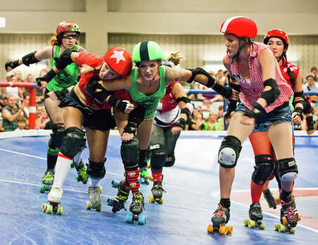 """Rollergirls"" was an A&E reality series centering around an Austin roller derby league. Photo: Earl J McGehee, Houston Chronicle / (c)2011 Earl J McGehee"