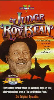 "Upset with the lawlessness in his hometown, Landtry, Texas, storekeeper Roy Bean decides to take action in ""Judge Roy Bean,"" which debuted in 1956. The show was filmed in Pioneertown, California."