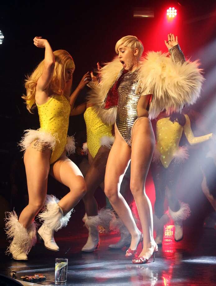 Miley Cyrus performs on stage at G-A-Y on May 9, 2014 in London, England. Photo: Jo Hale, Redferns Via Getty Images