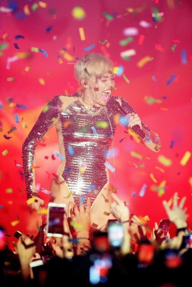 Miley Cyrus performs at G-A-Y on May 9, 2014 in London, England. Photo: Dave J Hogan, Getty Images