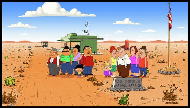 BORDERTOWN (working title): A new animated comedy from FAMILY GUY's Mark Hentemann and Seth MacFarlane, BORDERTOWN is a satirical look at the cultural shifts taking place in America. Exploring family, politics and everything in between with a cross-cultural wink, the series centers on two very different families living in a fictional Southwest desert town on the U.S. - Mexico border.  BORDERTOWN will join the schedule in 2015 on FOX.  BORDERTOWN ™ and © 2014 TCFFC ALL RIGHTS RESERVED. Photo: CR: FOX / © 2014 FOX BROADCASTING