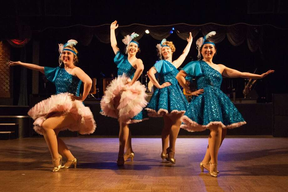 Can Can dancers at the Art Deco Preservation Ball May 10. Photo: Devin Begley