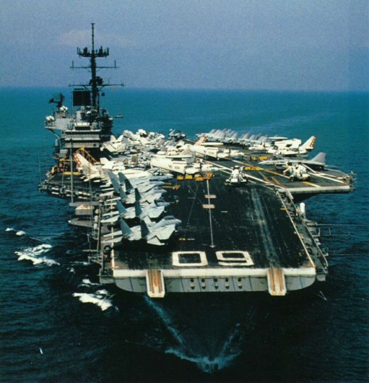 The USS Saratoga has arrived in Brownsville to be dismantled.