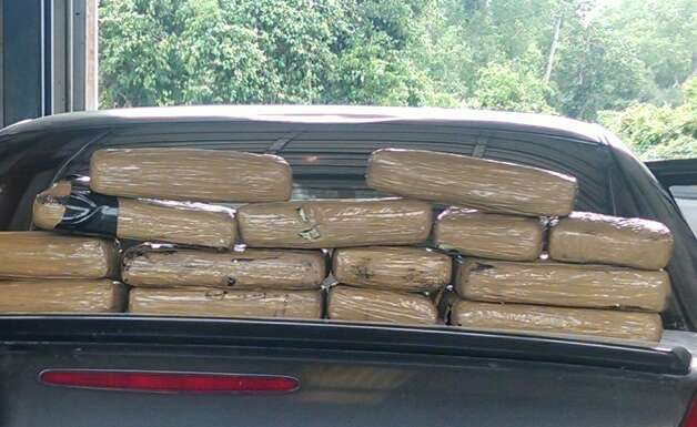 May 7, 2014:Officials found 24.56 pounds (11.16 kilos) of cocaine concealed in a homemade compartment inside a vehicle frame. The cocaine has a value of about $334,800, andJeanie Burciaga, 38, and Adrian Martinez, 38, of Brownsville, were arrested and booked into the Fort Bend County Jail on charges of manufacturing/delivery of a controlled substance and second degree charges of unlawful use of a criminal instrument. Photo: Fort Bend County