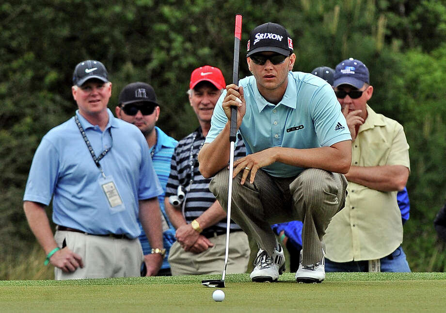 Chris Stroud eyes his putt on hole 10 in the Shell Houston Open. The former Lamar University men's golfer will be inducted into the Southland Conference Hall of Honor, the league office announced Monday. Enterprise file photo Photo: Randy Edwards
