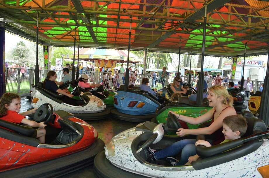 The bumper cars were one of the many attractions at the 65th annual May Fair at St. Mark's Episcopal Church in New Canaan on Saturday, May 10. Jarret Liotta / For the New Canaan News Photo: Contributed Photo, Contributed / New Canaan News Contributed