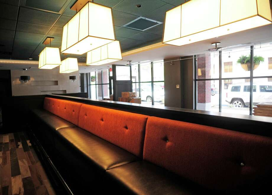A view inside the Mingle on the Avenue restaurant, that is part of the Pavilion Grand Hotel, seen here on Monday, May 12, 2014, in Saratoga Springs, N.Y.   (Paul Buckowski / Times Union) Photo: Paul Buckowski / 00026834A