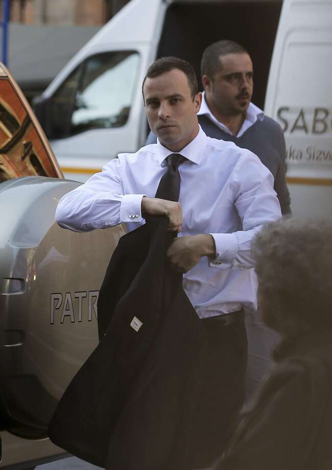 Oscar Pistorius is accused of murder in the death of his girlfriend, who was shot to death at his home in 2013. Photo: Themba Hadebe, Associated Press