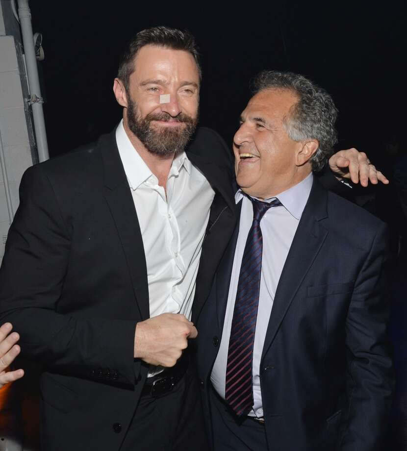 "Actor Hugh Jackman and Chairman & Chief Executive Officer of Fox Filmed Entertainment, Jim Gianopulos attend the ""X-Men: Days Of Future Past"" after party at SIR Stage37 on May 10, 2014 in New York City. Photo: Mike Coppola, Getty Images"