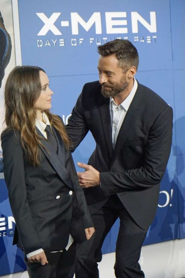 "Actors Ellen Page (L) Hugh Jackman attend the ""X-Men: Days Of Future Past"" world premiere at Jacob Javits Center on May 10, 2014 in New York City. Photo: Mike Coppola, Getty Images"