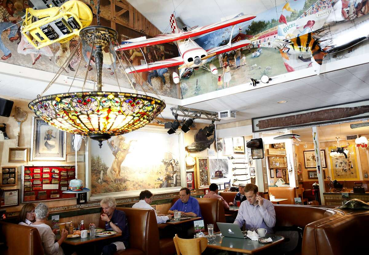 Buck's of Woodside is a popular spot to have a working meal in Woodside, Calif., on Friday, May 2, 2014.