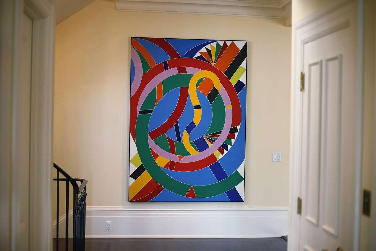 "William T. Williams' ""Eastern Star"" hangs in the home of Pamela Joyner on April 30, 2014 in San Francisco, Calif."