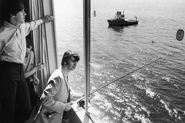 Cheers to the sun! Good day sunshine Good day sunshine Good day sunshine - Beatles Photo: The Beatles fishing from a window in suite 272 at the Edgewater Hotel, Aug. 21, 1964.