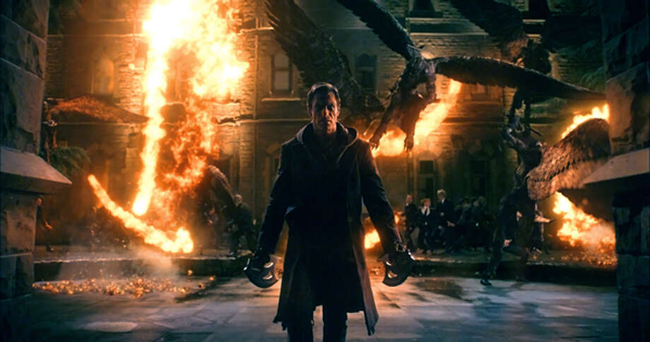 "Aaron Eckhart as Adam in ""I, Frankenstein."" Photo: Lionsgate Home Entertainment, 2014"