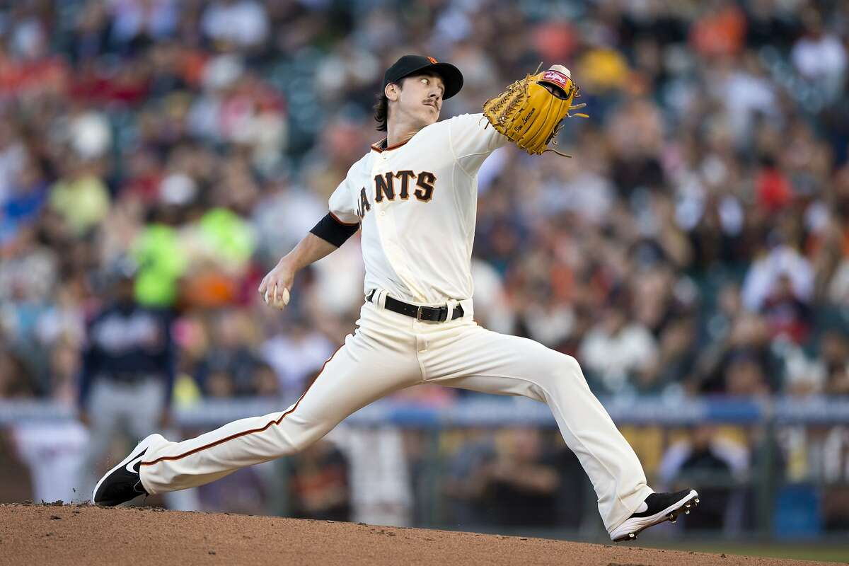 SAN FRANCISCO, CA - MAY 12: Tim Lincecum #55 of the San Francisco Giants pitches against the Atlanta Braves during the first inning at AT&T Park on May 12, 2014 in San Francisco, California. (Photo by Jason O. Watson/Getty Images)