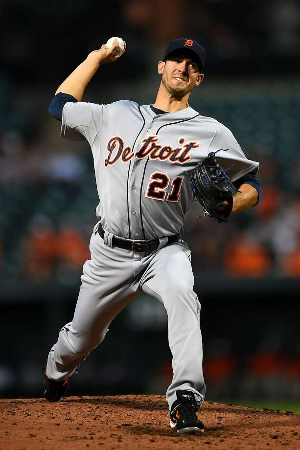 Detroit's Rick Porcello pitched six solid innings in Baltimore to win his fifth consecutive start. Photo: Patrick Smith, Getty Images