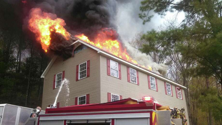 A home on Beaver Dam Road in New Scotland burned Tuesday morning. (Albany County Sheriff's Department)