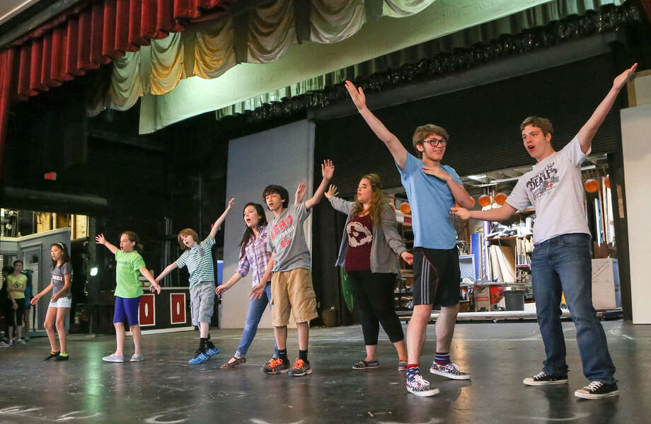 "The cast rehearses a song from ""The Wizard of Oz"" May 3 for ""The Actours Project,"" a show by the youth spring conservatory program at The Playhouse. Photo: Marvin Pfeiffer / Alamo Heights Weekly / EN Communities 2014"