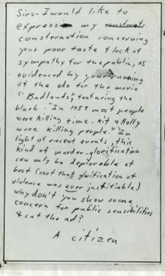 Postcard from the Zodiac killer received at the Chronicle on June 4, 1974. Photo: Chronicle Archive