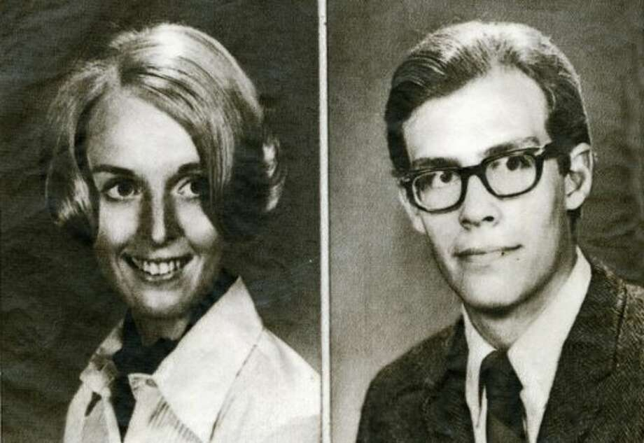 Celia Shepherd, left, and Bryan Hartnell were stabbed by a hooded assailant in September of 1969. The assailant was suspected to be the Zodiac killer. Photo: AP