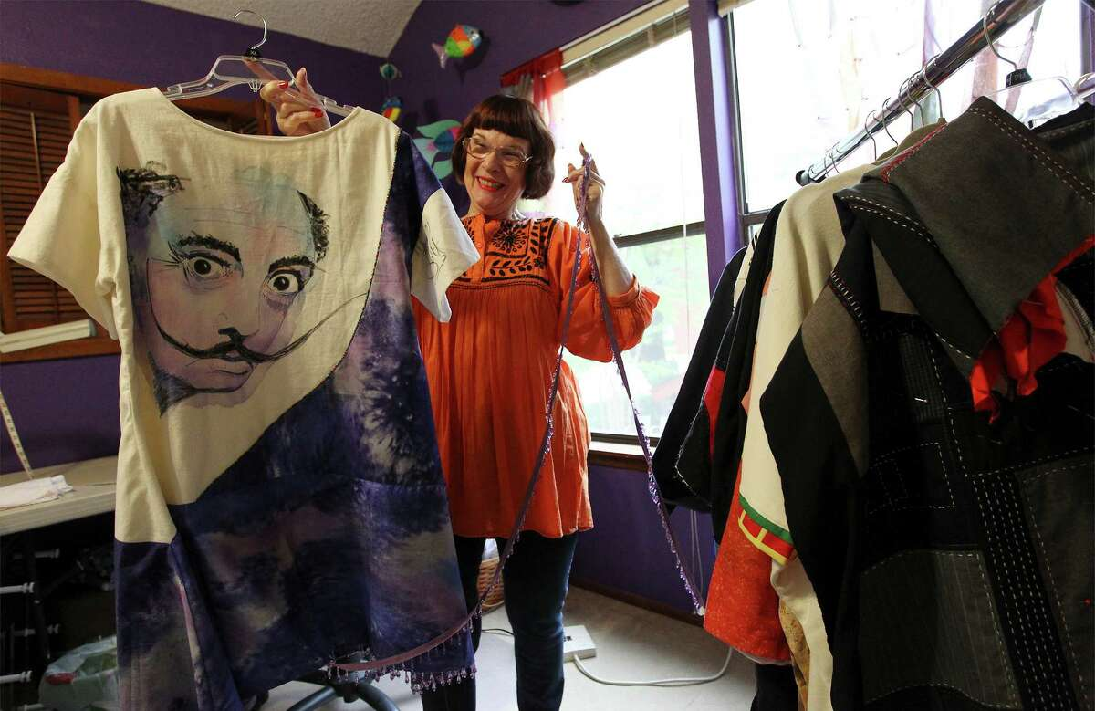 Dian Lamb paints on a variety of fabrics, including bedsheets that she turns into exquisite coats. She will send her works down a runway Saturday at the 18th annual Fiber Artists of San Antonio show. Click ahead for a sneak peek, and read more about it on ExpressNews.com.Saturday's show is sold out, but the public is invited to shop the FASA vendors and garment sale from 1:30 to 3 p.m. at the San Antonio Country Club, 4100 N. New Braunfels Ave. No fee is required for shopping.